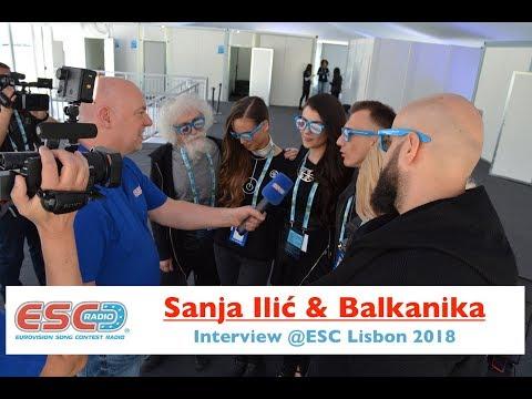 Sanja Ilic & Balkanika (Serbia) - interview Eurovision Lisbon 2018 | ESC Radio