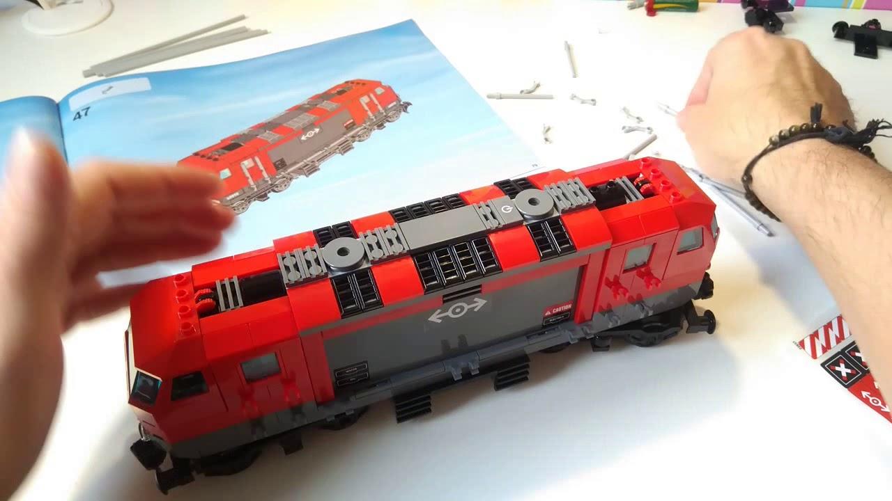 3 Lego City 60098 Pociąg Towarowy Speedbuild Lego Train Red