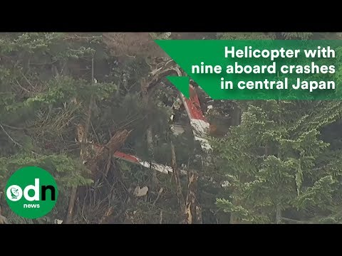 Japanese helicopter carrying nine crashes in mountains