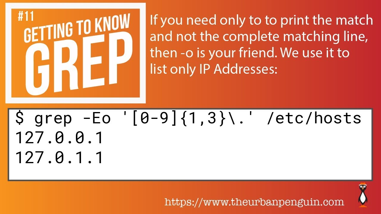 Getting to know grep and the -o option
