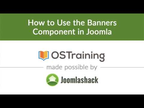 Joomla Beginner Class, Lesson #20: How To Use The Banners Component In Joomla