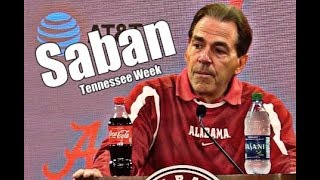 Alabama Crimson Tide Football: Nick Saban on Rivalry with Tennessee,  DeVonta Smith is questionable