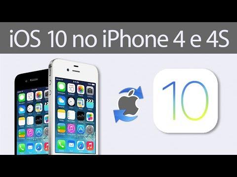 Atualizar iPhone 4 e 4S pro iOS 10?