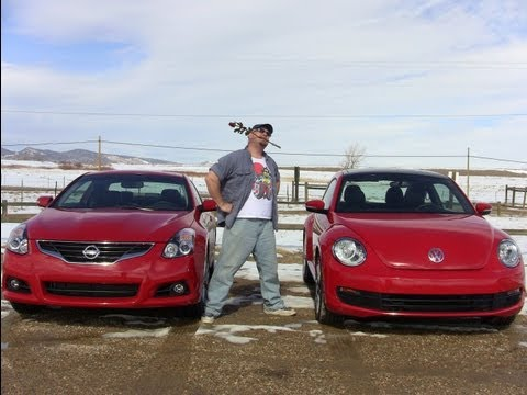 2012 VW Beetle vs Nissan Altima Coupe: Valentine's Day Mashup Review