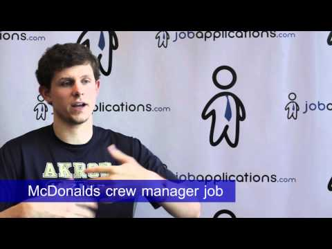 McDonalds Interview - Crew Manager