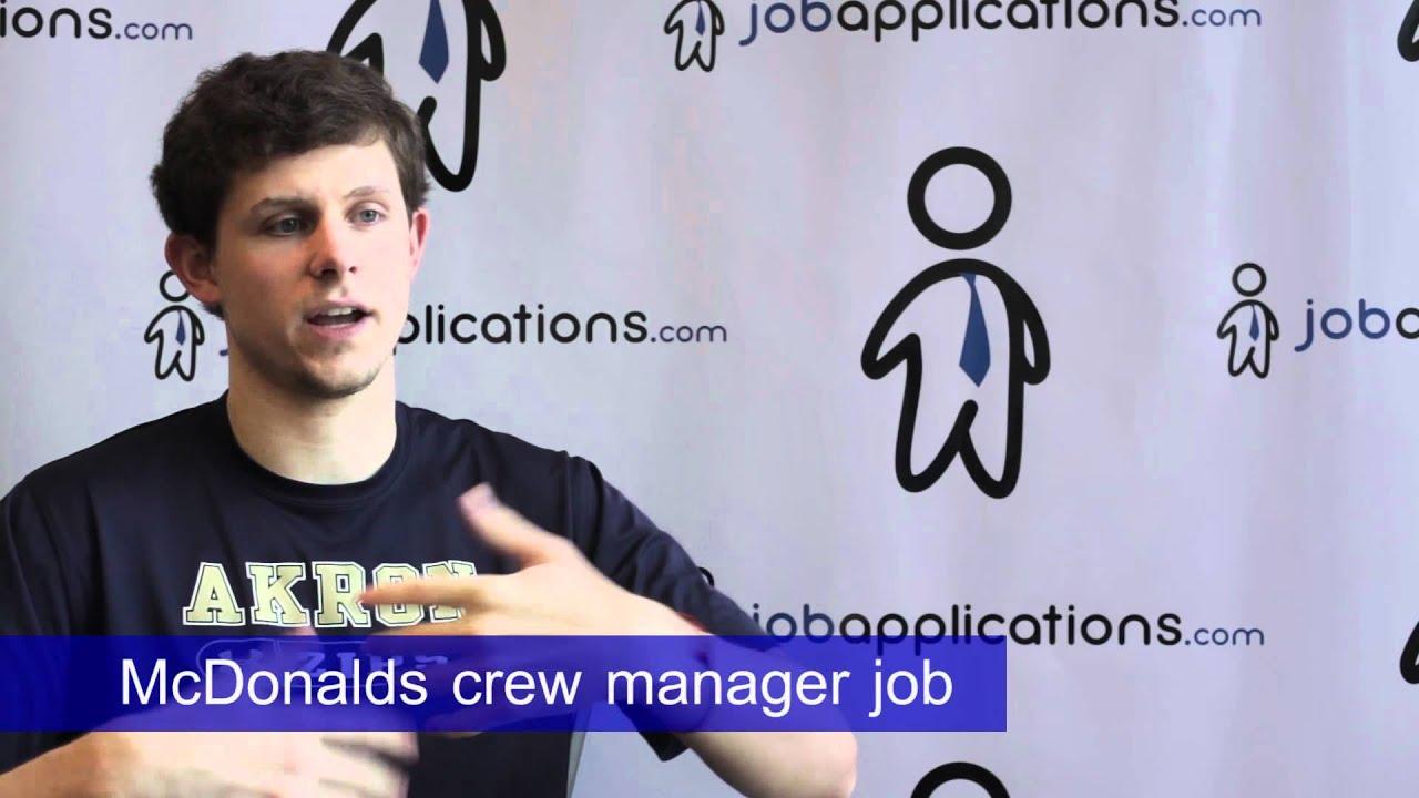 mcdonalds interview crew manager mcdonalds interview crew manager