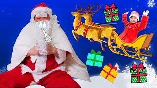 寸劇ごっこ遊び!サンタさんが病気で倒れた!代わりにクリスマスプレゼントをアンパンマン・プリンセス・メルちゃんに届けよう!| はねまりチャンネル