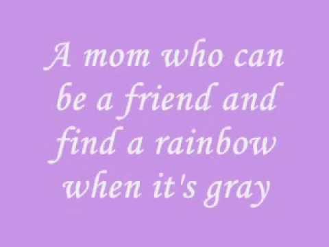 I Want A Mom That Lasts Forever by Cyndi Lauper (lyrics)