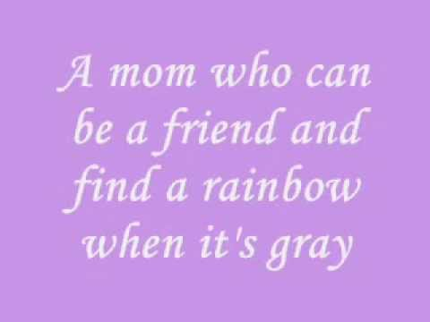 I Want A Mom That Lasts Forever by Cyndi Lauper (lyrics)