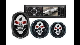 BOSS AUDIO BV7260B + BOSS Audio SK693 600 Watt, 6 x 9 +  Skull 6.5-Inches 350W