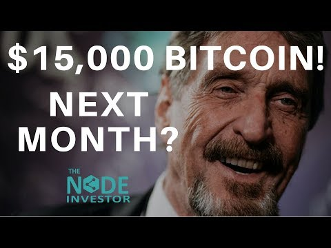 McAfee's Bitcoin Prediction - $15K in June! | Market Update BTC BNB EOS ETH