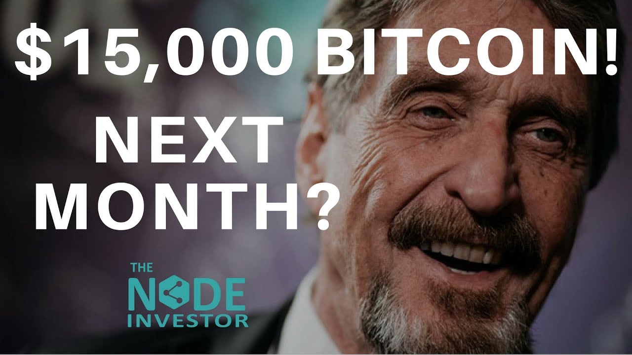 McAfee's Bitcoin Prediction – $15K in June! | Market Update BTC BNB EOS ETH