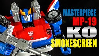 MP-19 KO Transformers Masterpiece Smokescreen robot figure review