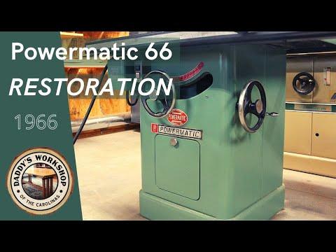 1966 Powermatic 66 Table Saw Restoration - YouTube