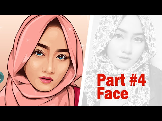 Vector Vexel Portrait Tutorial | Part #4 Face