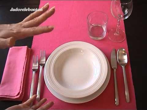 Galateo della tavola apparecchiatura base youtube - Apparecchiare la tavola bicchieri ...