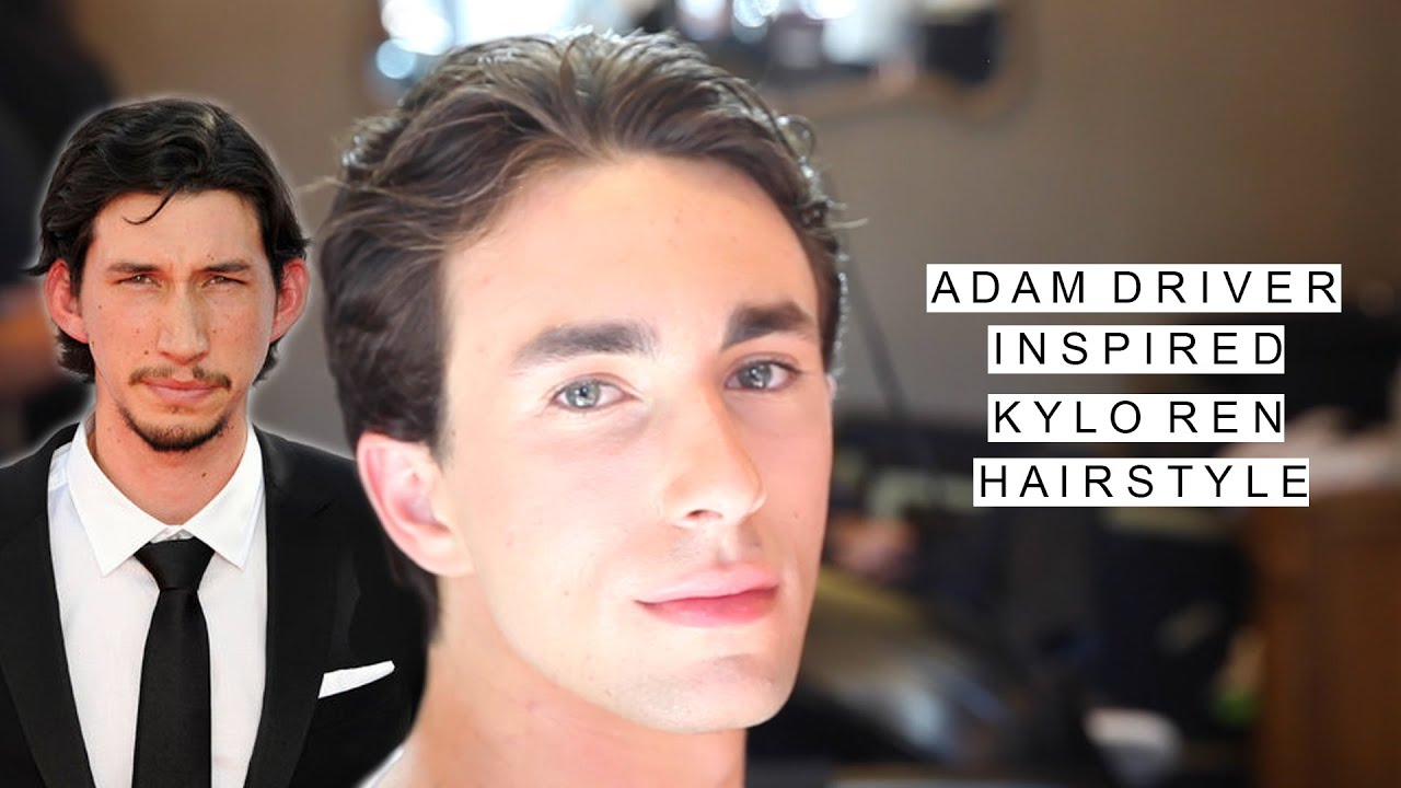 Modified Kylo Ren Hair Star Wars Inspired Adam Driver Hairstyle Youtube