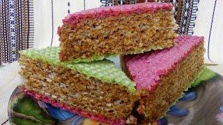 Вафельный торт со сгущенкой/Waffle cake with condensed milk