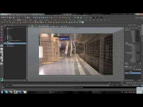 Maya Tracking Scene Environment Modeling