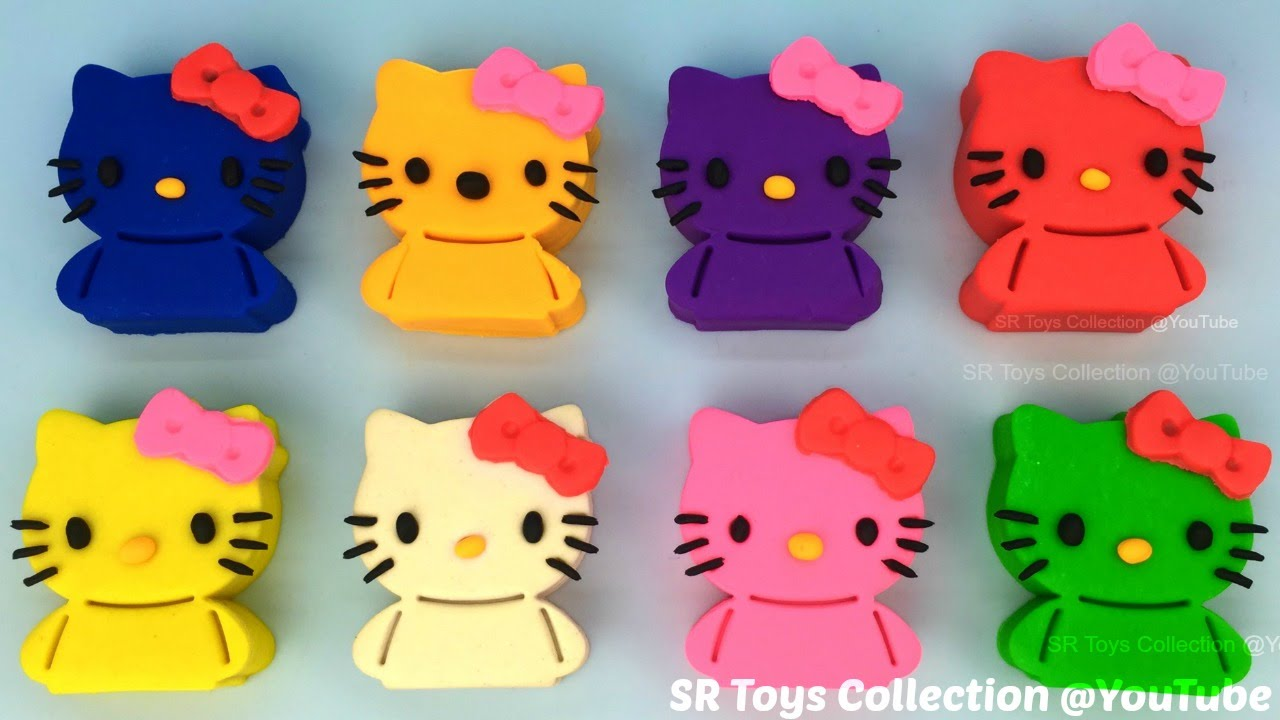 fd630eb71 Play and Learn Colours with Play Doh Hello Kitty and Animals Molds Fun  Creative for Kids