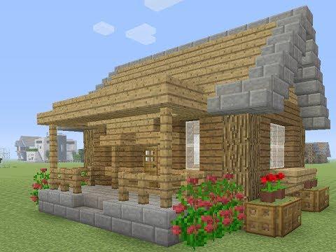Minecraft een makkelijke survival huis maken youtube for Huis maken minecraft
