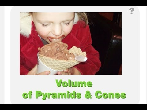 Volume of Pyramids and Cones Math/Algebra Lesson