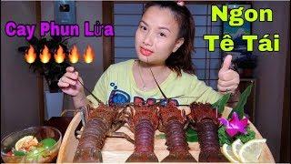 Sashimi Tôm Hùm Sống Chấm Sốt Siêu Cay Ngon Tê Tái - Quỳnh Trần JB Full HD