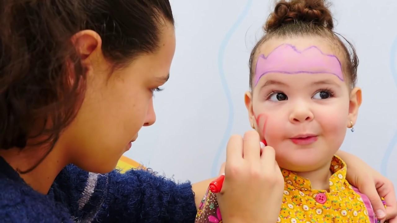 Yüz Boyama Eğlencesi çizgi Film Prenses Yüzü Youtube