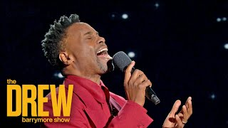 """Billy porter performs """"edelweiss,"""" a classic song of hope from rodgers and hammerstein's the sound music in drew barrymore show's inaugural """"sing to a..."""
