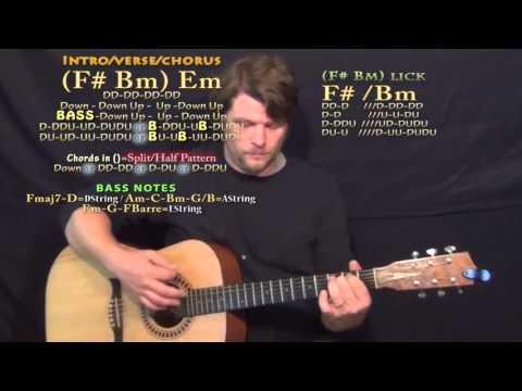 Don't (Bryson Tiller) Guitar Lesson Chord Chart - F# Bm Em