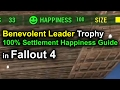 Fallout 4: How To get 100 Happiness in a Settlement