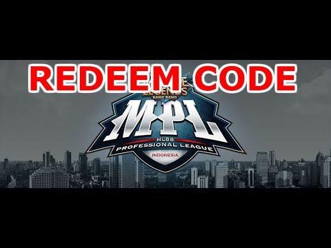 Redeem Code Mobile Legends MPL 2018 - YouTube