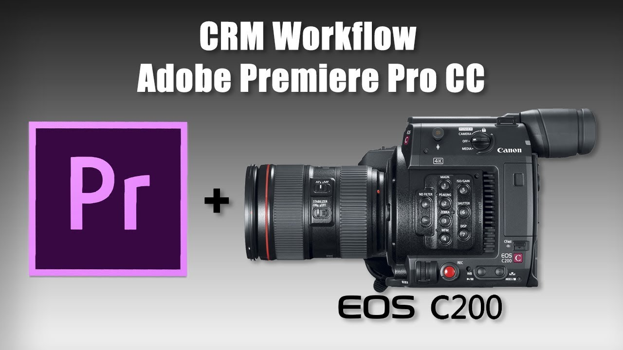 How To Edit Canon C200 Cinema RAW Light (CRM) Footage in Adobe Premiere Pro  CC!