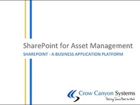 WEBINAR: Asset and Equipment Management in SharePoint by Crow Canyon