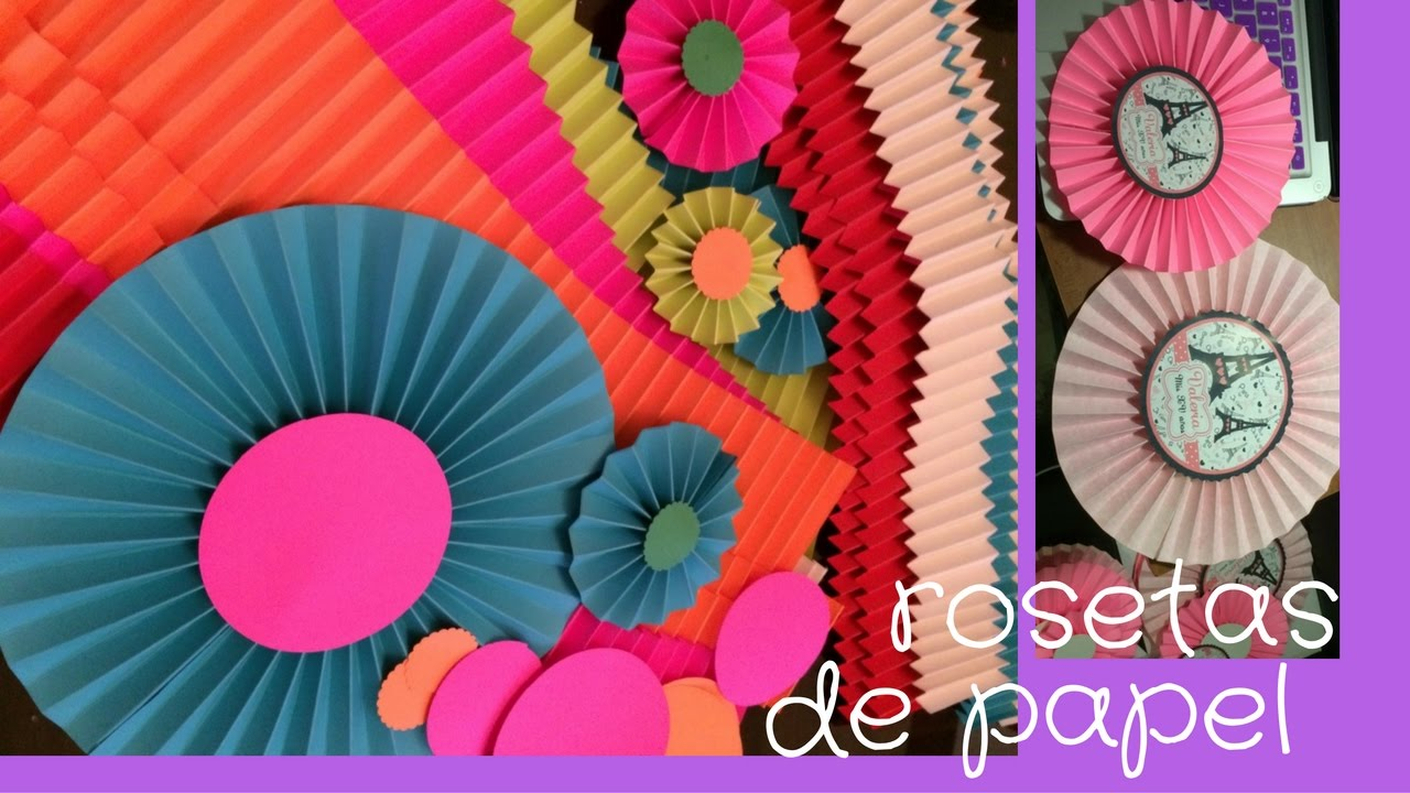 Rosetas de papel para decorar youtube - Decorar con papel ...