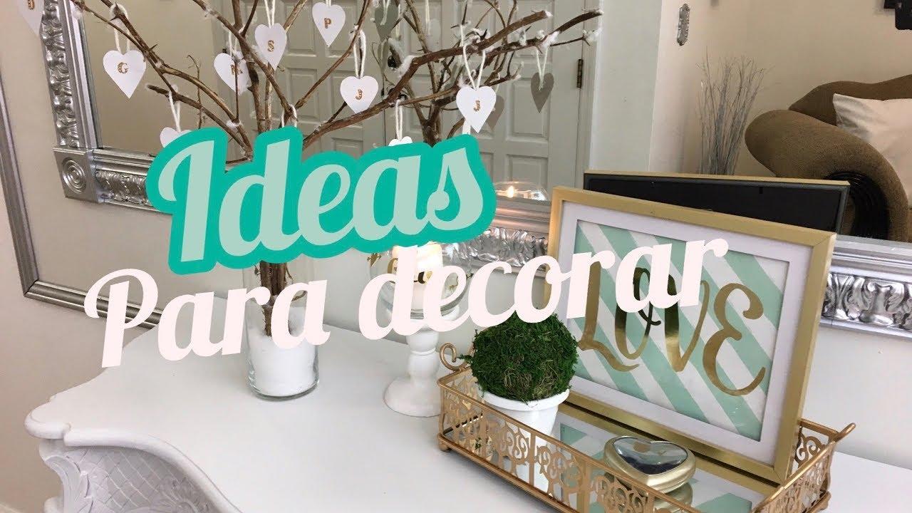 4 IDEAS PARA DECORAR TU CASA  DIYs DE AMOR Y AMISTA PARA
