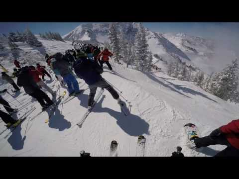 Snowbird Utah Powder Panic Skiing Big Crowds Deep Powder Frenzy