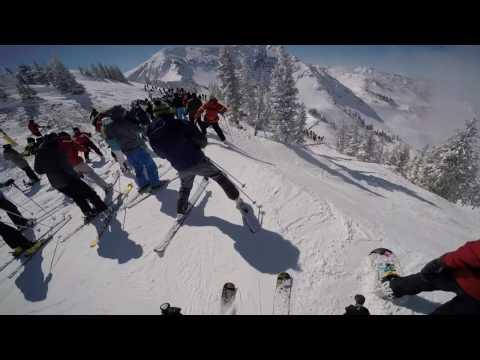 Snowbird Utah Powder Panic Skiing Big Crowds Deep Powder Frenzy