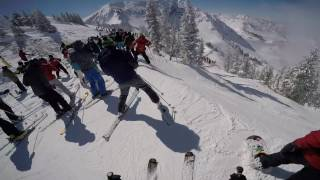 Ski Utah - Snowbird Utah Powder Panic Skiing Big Crowds Deep Powder Frenzy