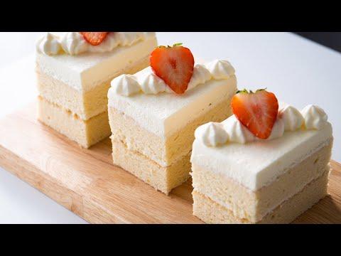 Cotton Soft Sponge Cake With Fresh Cream