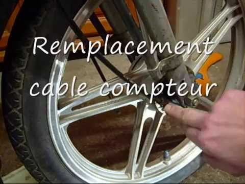 remplacement cable de compteur 2 roues youtube. Black Bedroom Furniture Sets. Home Design Ideas