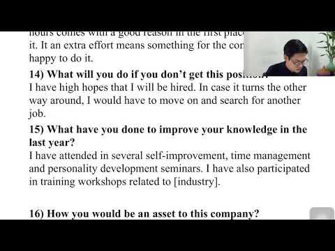 EP.17: 10 คำถามเตรียมสัมภาษณ์งานเป็นภาษาอังกฤษ สำหรับคนไม่ค่อยเก่งภาษาอังกฤษ-รายการเเกรมม่าร์ 5 นาที