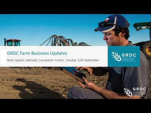 GRDC Farm Business Updates Networking with your Industry