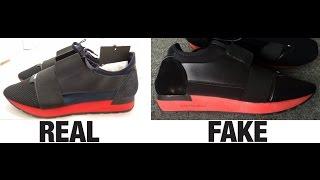 How To Spot Fake Balenciaga Race Runner Trainers Authentic vs Replica Comparison