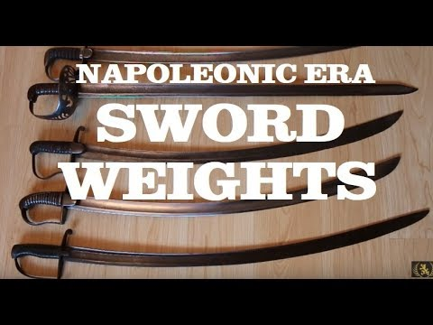Sword Weights - Napoleonic Era Swords