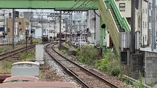 近鉄1253系 VC60+2800系LCカー AX11  名古屋行き急行  津駅到着