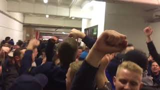 720p60 WEDNESDAY FANS BOUNCING IN THE CONCOURSE AT BRAMALL LANE, SHEFFIELD UNITED 12/01/18