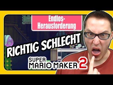 Super Mario Maker 2 (Sehr Schwierige Endlos-Herausforderung): Das Schlechteste Level!
