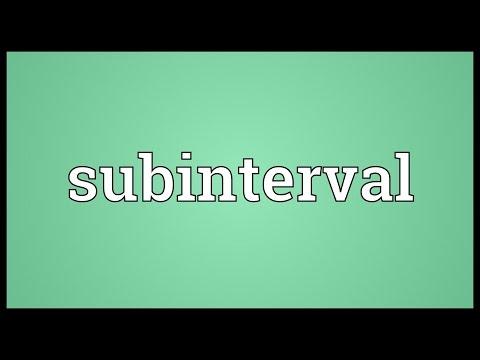 Header of subinterval