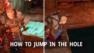 How To Jump Down The HOLE In Tonna's Camp Bartering   AC Valhalla